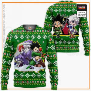 Gon & Killua Hunter X Hunter Ugly Christmas Sweater Hunter X Hunter Xmas