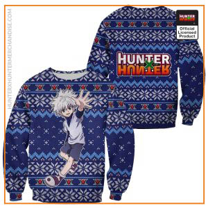 Killua Ugly Christmas Sweater Hunter X Hunter Xmas Gift Custom Clothes