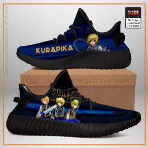 Kurapika Yeezy Shoes Custom Hunter X Hunter Sneakers Fan Gift TT04