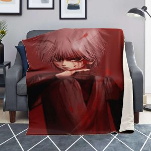 HxH Merch - Killua Zoldyck Blood 3D Microfleece Blanket
