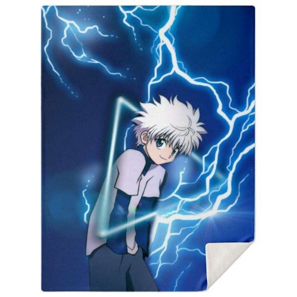 HxH Merch - Killua Zoldyck Microfleece Blanket