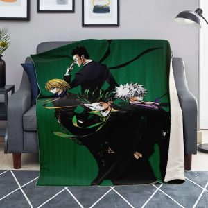 HxH Merch - HxH Character Microfleece Blanket 3D Design No.3