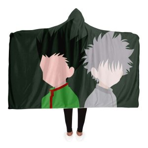 HxH Merch - Killua Zoldyck & Gon Freecss Hooded Blanket No.1