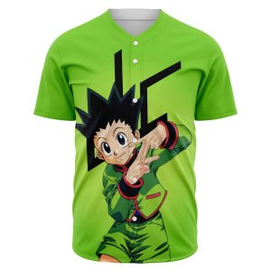 HxH Merch - Gon Freecss Fire 3D Baseball Jersey No.3