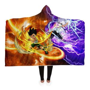 HxH Merch - Killua Zoldyck & Gon Freecss Power 3D Hooded Blanket