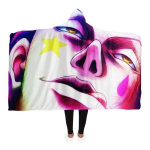 HxH Merch - Hisoka Hooded Blanket 3D Style No.1