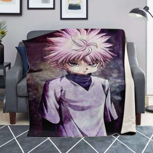 HxH Merch - Killua Zoldyck Microfleece Blanket Design No.1